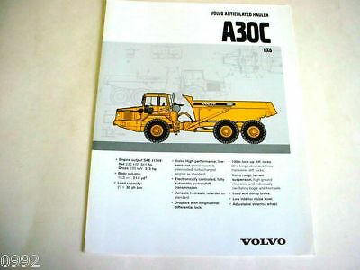 Volvo A30C 6x6 Articulated Truck Brochure
