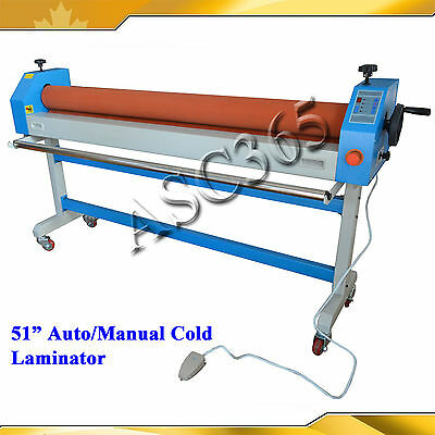 110V Auto/Manual Laminator Laminating Machine 51In 1300MM Large Two Soft Rubber