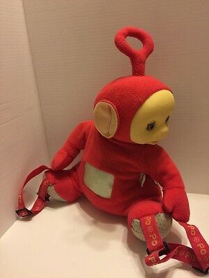 "Teletubbies Plush Red Backpack ""Po""  Vintage 90's  16"""