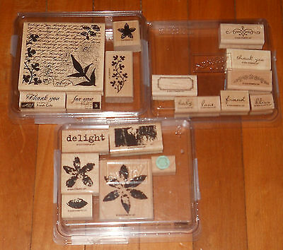 Stampin Up Lot Stamp Fresh Cuts Baby Love Bliss Paint Prints Delight Flower 19