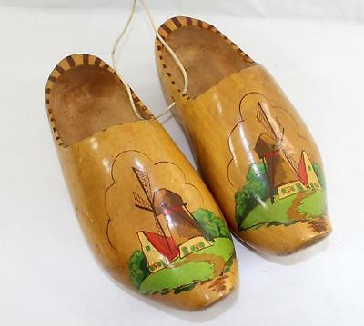 Vintage Wooden Dutch Shoes Made in Amsterdam Holland