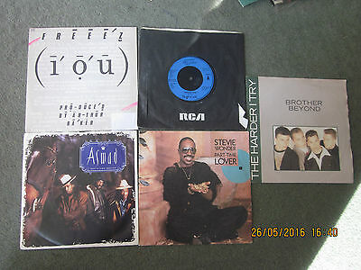 "Bundle Of 5 1980's Male Vocalist Songs 7"" Vinyl Record Singles"