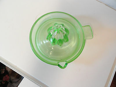 Federal Glass Company Green Depression Glass Juicer Reamer