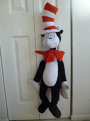 "Original Dr Seuss CAT IN HAT large hanging plush toy 33"" by NANCO"