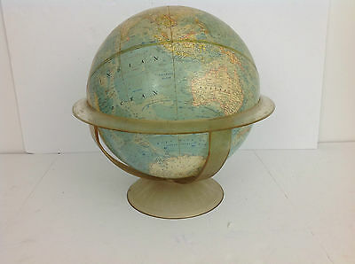 "Vintage National Geographic 12"" 1961 World Globe - Cold War - Acrylic Stand"