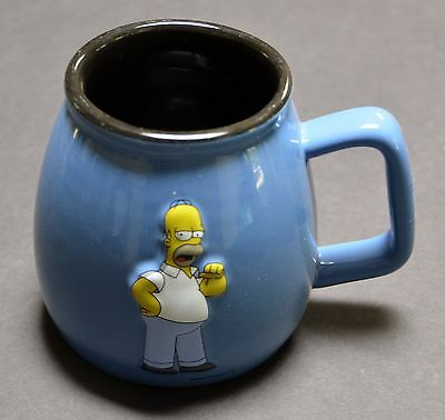 "Homer Simpson ""TV Respects Me"" Blue 3D Coffee Tea Mug Cup 2004"
