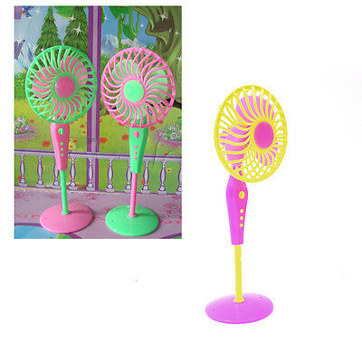 Mini Fan Toys for Barbies Kids Dollhouse Furniture Accessories Color Random liau