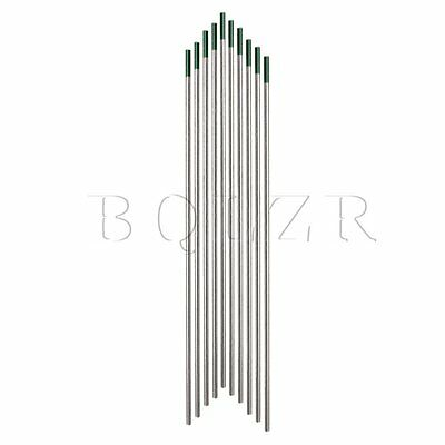 10 Pieces 175MM x 2.4MM Green Tip Tig WP Welding Pure Tungsten Electrodes