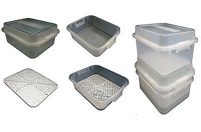 2 X 12LT Plastic Storage Tubs Container Strong Crate Bin Crates Box Boxes 12L