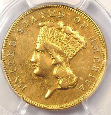 1884 Three Dollar Indian Gold Piece $3 Coin - PCGS AU Detail - Just 1000 Minted!