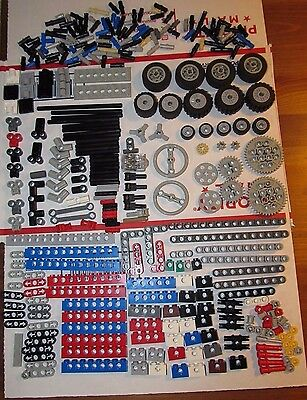 Lego Technic Mindstorms 330 Pieces Parts Lot Wheels Gears Axles Pins