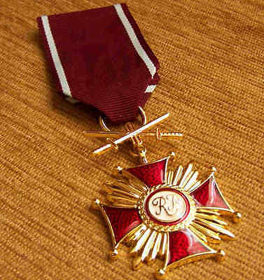 Polish GOLDEN CROSS of MERIT with SWORDS, WAR MEDAL WWII POLAND ORDER HIGH AWARD