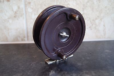 vintage allcock bakelite fly fishing centre pin reel in exellent condition