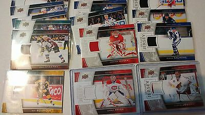2013-14 Upper Deck Series 1 One UD Game Used Jerseys You Pick UPick List Lot