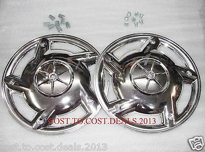 """Vespa BAJAJ Front & Rear 10"""" Wheel Rim Show Cover Pair with Fitting"""