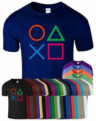 PlayStation Controller Buttons Mens Gameing Tshirt Funny Cool Top T-Shirt