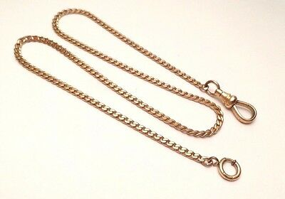 """Vintage Gold Filled Simmons Pocket Watch Holder Chain Fob Swivel Clasp 16 1/8"""""""