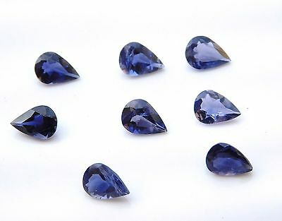AAA Quality 10 Pc Natural Iolite 5 x 8 mm Pear Cut Cabochon Loose Gemstone