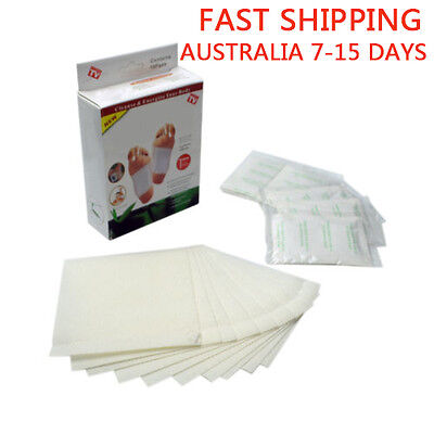 10 Sticky Adhesives 10x Detox Foot Pads Patch Natural plant Toxin Removal