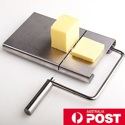 Stainless Steel Wire Blade Cheese Cutter Board Cake Dofu Butter Slicer Free Wire