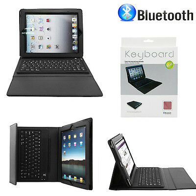 Folio Case Leather Cover Stand Bluetooth Wireless Keyboard for iPad 2nd 3rd 4 US