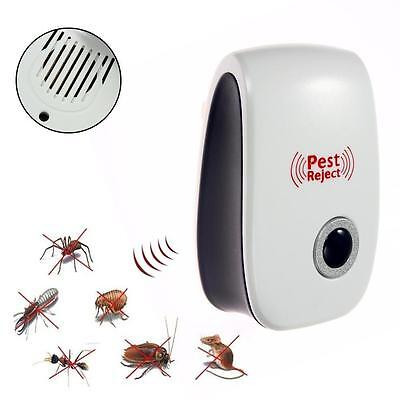 Electronic Ultrasonic Pest Control Repeller Rat Mosquito Mouse Insect Rodent JS