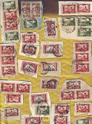 Iraq 1918-1920 British Occupation ON PIECE Local Cancels Postmarks etc Pairs