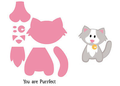 Marianne Design Collectables Die Cut Emboss Stamp Cat You Are Perrfect Col1353