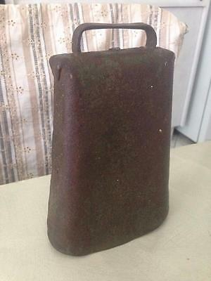 Old Vintage Antique Tin Metal Farm Bull Milk Cow Bell Cowbell Mancave Shed Item