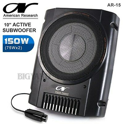 "New AMERICAN RESEARCH AR-15 10"" 150W Car Active Subwoofer w/ Built In Amplifier"