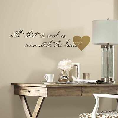 Removable Decal Art Mural Home Living Room Decor Quote Wall Sticker Heart Peel