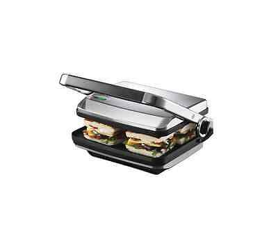NEW SUNBEAM GR8450B Café Press® Brushed sandwich press