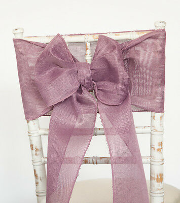 Linen Burlap Sashes And Matching Table Runners 3 Colours Wedding Chairs Events