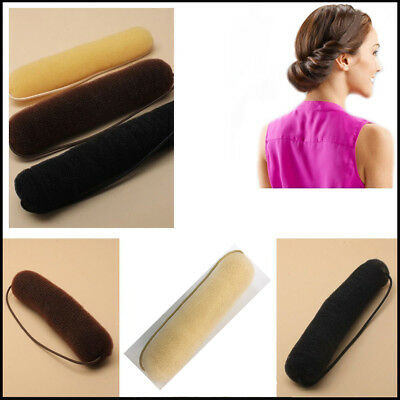 Bump Up Hair Bun Sponge Hollywood Style Roll On Elastic Donut Updo Twist Ballet