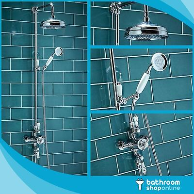 Traditional Exposed Shower Chrome Thermostatic Shower Dual Mixer Valve