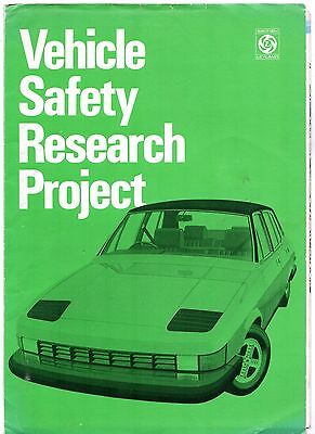British Leyland Vehicle Safety Research Project c1974 UK Brochure/Poster Mini
