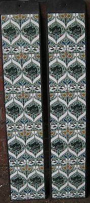 Art Nouveau / Arts & Crafts Voysey Cats Fireplace Tiles Set