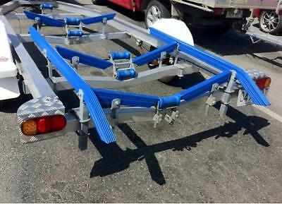 2x 1.5 Meter Ribbed Boat Trailer Plastic Bunks With 45 Degree Angles. Skid Bunk