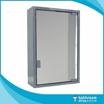 Bathroom Mirror Cabinet Stainless Steel Storage Unit Wall Mounted