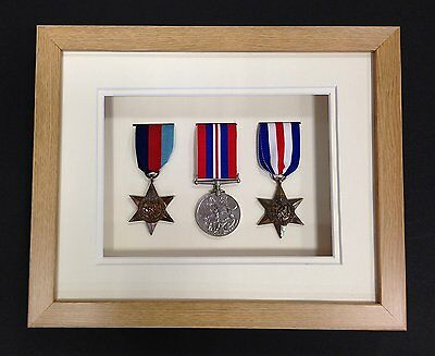 Oak Effect 3d Deep Box Frame To Display War/ Military/Sports Medals