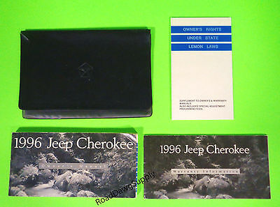 1996 Jeep Cherokee Owners Manual Owner's Guide Book Set SE Sport Country