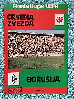 1979 - UEFA CUP FINAL 1ST LEG PROGRAMME - RED STAR v BORUSSIA MONCHENGLADBACH