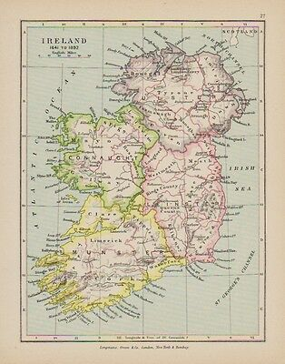 c1897 Map of Ireland in the time of 1641 - 1892