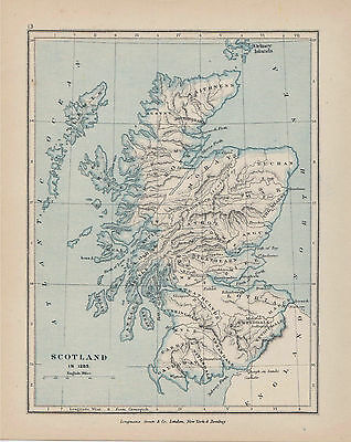 c1897 Map of Scotland in 1285