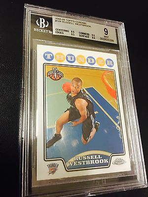 2008-09 Russell Westbrook Topps Chrome Rookie BGS 9 RC Mint