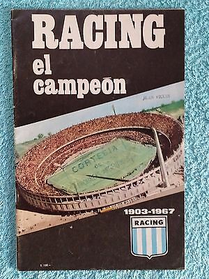 1967 - INTERCONTINENTAL CUP FINAL PROGRAMME - RACING CLUB v CELTIC - ORIGINAL