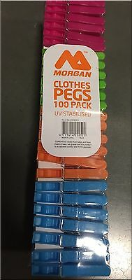 100 Plastic Pegs Laundry Washing Clothes- alt Hegs Reva Gallagher