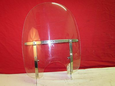 "Harley Davidson Softail 15"" Detachable Clear Windshield, Used"