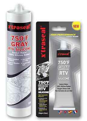 x'traseal 750˚F GRAY rtv silicone Gasket maker 85gr (3oz) 12 Pack