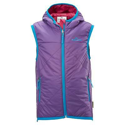 Kathmandu Bosley Kids Girls Boys 8-12 Years Hooded Reversible Outdoor Vest Pink